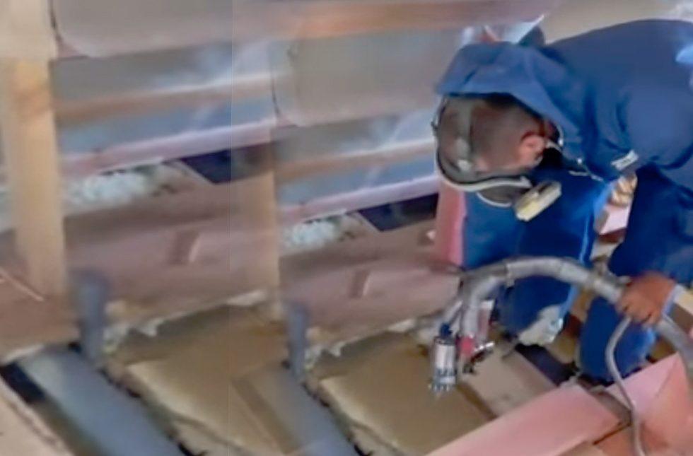 Утепление крыши напыляемым пенополиуретаном