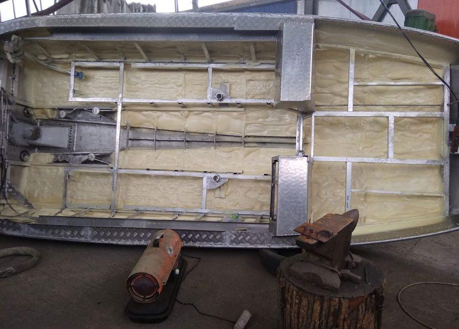 Подготовка поверхности и напыление ППУ в зимний период